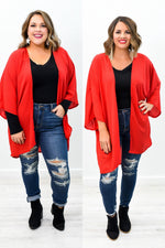 Better Things Ahead Red Sheer Kimono - O2662RD