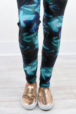 Multi Color Printed Leggings (One Size 4-12) - LEG1264MU