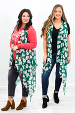 The Beginning To The Best Christmas Ever Green Snowman Printed Sheer Kimono (One Size 4-14) - O2784GN