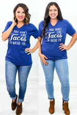If You Don't Like Tacos Navy Triblend Graphic Tee - A960NV