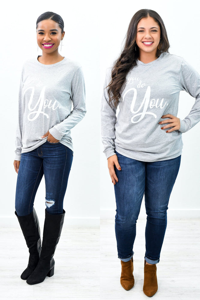 You Do You Heather Gray Graphic Tee - A954HGR