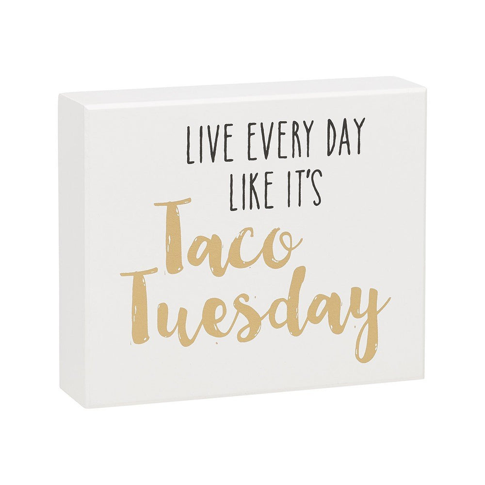 Taco Tuesday White Box Sign - SGN151WH