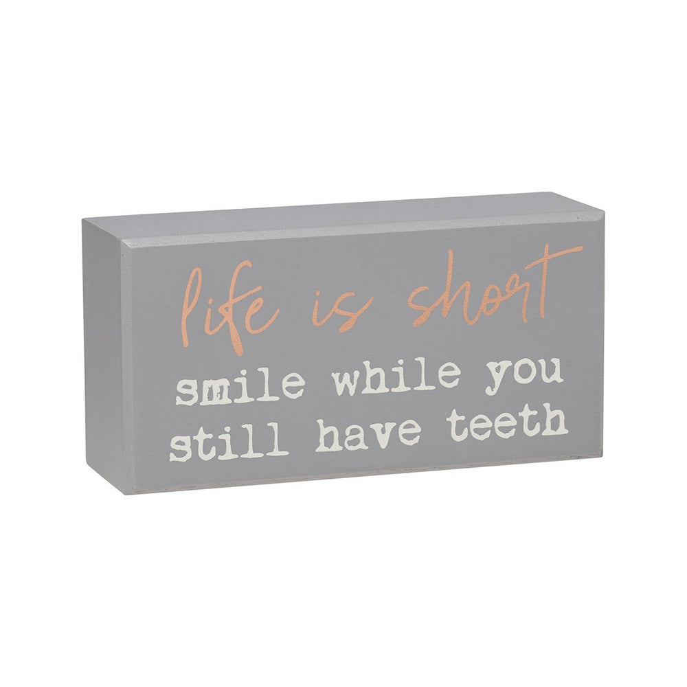 Life Is Short Gray Box Sign - SGN143GR