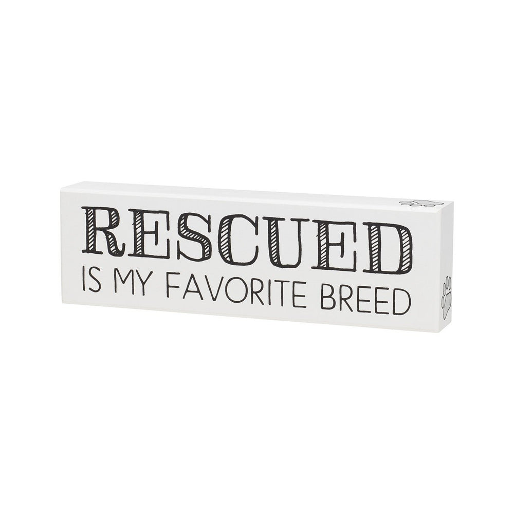 Favorite Breed White Box Sign - SGN145WH