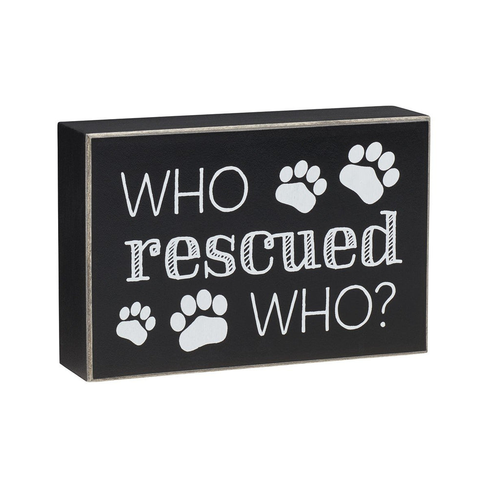 Rescued Black Box Sign - SGN147BK