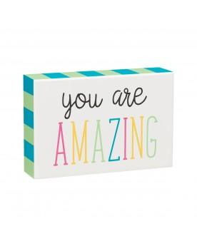 You Are Amazing White/Multi Color Box Sign - SGN162WH