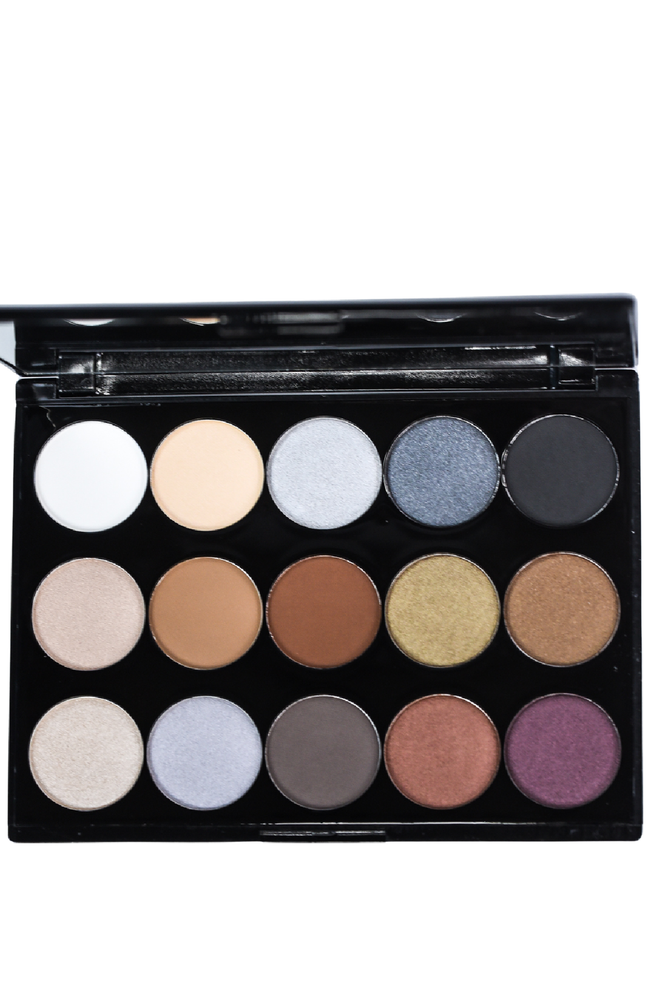 15 Shade Eyeshadow Palette - Smokey Nights - I14AES