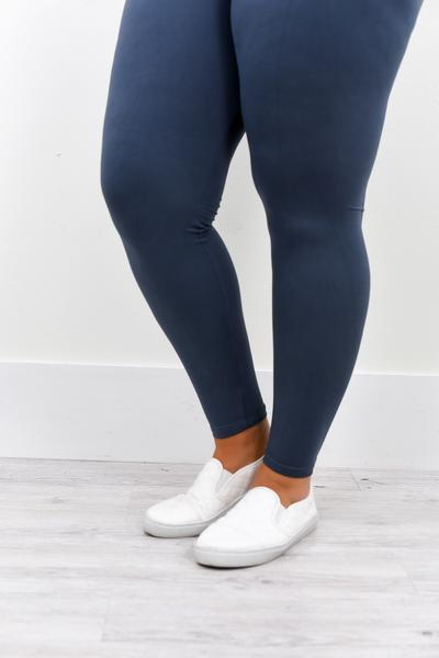 Charcoal Gray Wide Band Solid Leggings (Sizes 20-26) - LEG2213CG