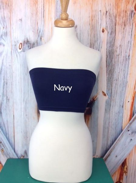 Navy Seamless Bandeau (Sizes 12-18) - BND332NV