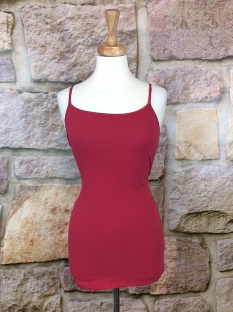 Burgundy Tunic Cami - CAM445BU-Tee for the Soul