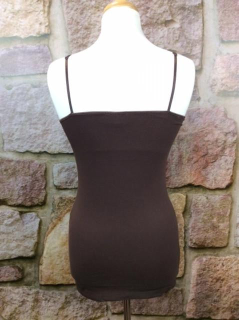 Brown Tunic Cami - CAM445BR-Tee for the Soul