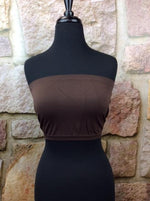 Brown Seamless Bandeau (Sizes 12-18) - BND332BR-Tee for the Soul