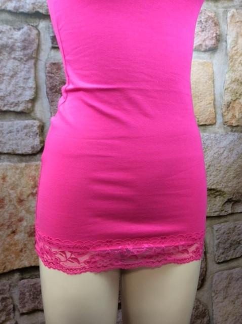 Lace Tunic Cami - Fuchsia - CAM191FU-Tee for the Soul