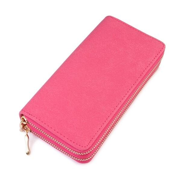 Fuchsia Double Zip Wallet - WAL227FU