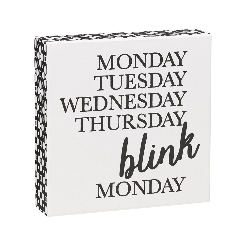 Blink White Box Sign - SGN156WH