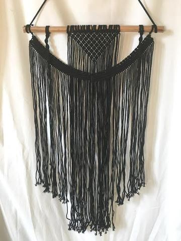 Black Macrame Wall Hanging - HME102