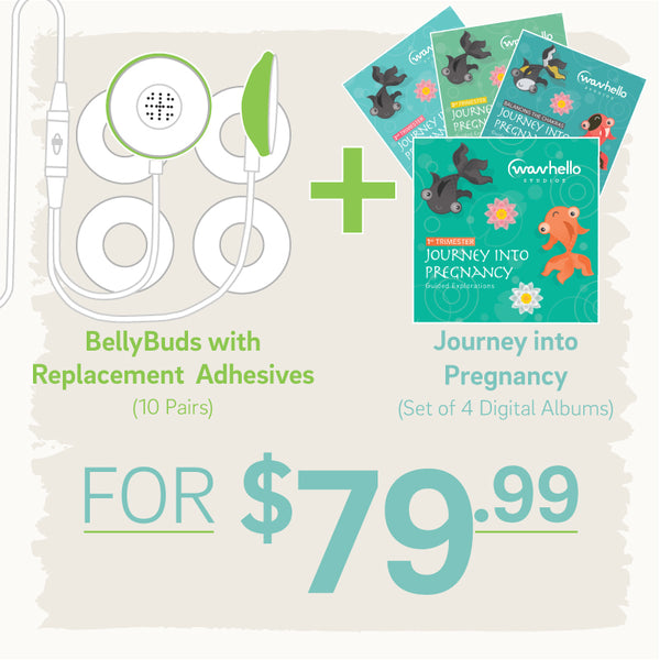 BellyBuds + Adhesives + Meditations Bundle