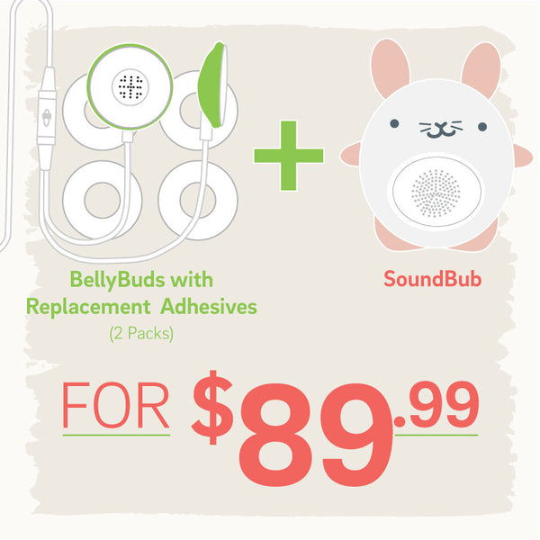 BellyBuds + SoundBub + Adhesives Bundle