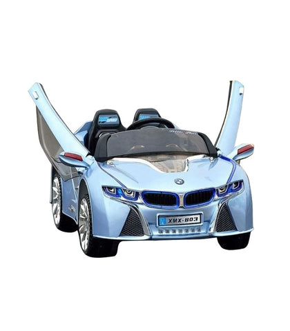BMW i8 Inspired Kid's Electric Ride-In Car w/ LED Lights & Remote Control (Blue) - myhoverboardscooter.com - 1