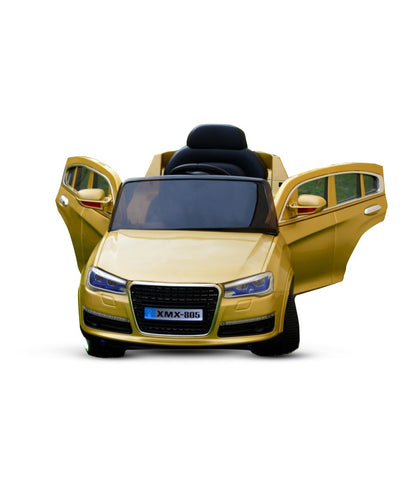Audi Q7 Inspired Kid's Electric Ride-In Car w/ LED Lights & Remote Control (Gold) - myhoverboardscooter.com - 1