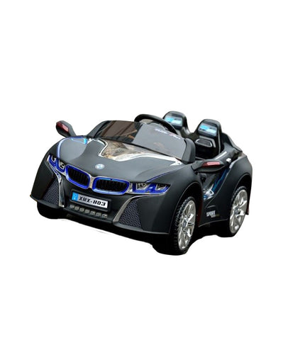 BMW i8 Inspired Kid's Electric Ride-In Car w/ LED Lights & Remote Control (Black) - myhoverboardscooter.com - 1