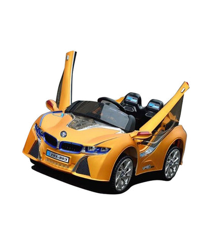 BMW i8 Inspired Kid's Electric Ride-In Car w/ LED Lights & Remote Control (Yellow) - myhoverboardscooter.com - 1