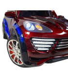 Porche Cayenne S Inspired Kid's Electric 2-Seater Ride-In Car w/ LED Lights & Remote Control (Red) - myhoverboardscooter.com - 9