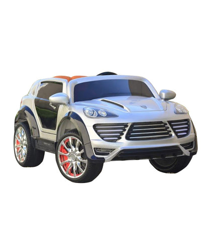 Porche Cayenne S Inspired Kid's Electric 2-Seater Ride-In Car w/ LED Lights & Remote Control (Silver) - myhoverboardscooter.com - 1