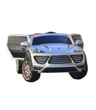 Porche Cayenne S Inspired Kid's Electric 2-Seater Ride-In Car w/ LED Lights & Remote Control (Silver) - myhoverboardscooter.com - 10