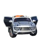 Porche Cayenne S Inspired Kid's Electric 2-Seater Ride-In Car w/ LED Lights & Remote Control (Silver) - myhoverboardscooter.com - 11