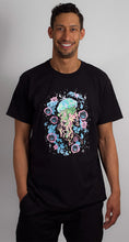 Black Hyph Jelly- Glow in the Dark Tshirt includes FREE MINI BLACK LIGHT