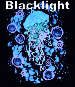 Black Hyph Jelly- Glow in the Dark Tshirt includes FREE LED MINI BLACK LIGHT