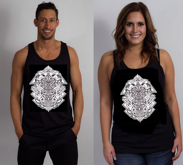 Stephen Kruse Glow in the Dark Unisex Tanks Black includes FREE LED MINI BLACK LIGHT