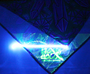 Hyphy Bandana Green MetaTrons Cube- Inside corner GLOWS includes FREE Mini Black Light