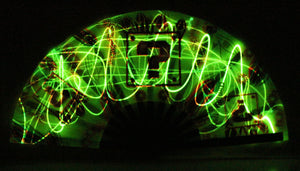 Clack Fans- One of a KIND AIRBRUSH ART- Hyphy Tipper Box Green  - includes FREE LASER POINTER