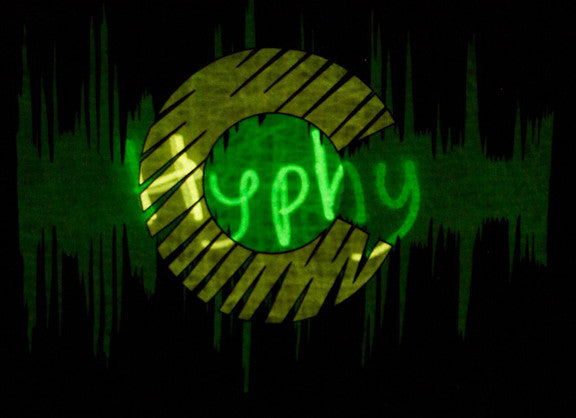 Hyphy Colorado Glow in the Dark Tshirt Blue includes FREE LED MINI BLACK LIGHT