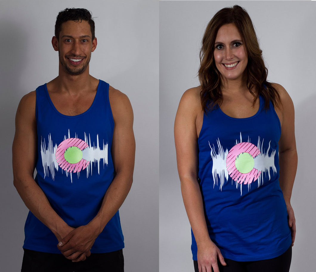 Hyphy Colorado Glow in the Dark Unisex Tank Blue Free Mini Black Light Included