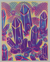 "Glow in the Dark Art Print #6 Hyphy Crystals 12x15"" includes free mini black light!!"