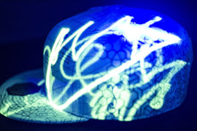 SOLD OUT Grassroots California x Hyphy Color Glow in the Dark FITTED Hats!!!!  includes FREE MINI LED BLACK LIGHT