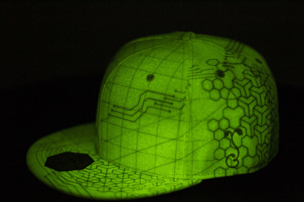 f3df18486 NOW AVAILABLE- Grassroots California x Hyphy Color Glow in the Dark FITTED  Hats!!!! includes FREE MINI LED BLACK LIGHT