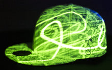 NOW AVAILABLE- Grassroots California x Hyphy Color Glow in the Dark FITTED Hats!!!!  includes FREE MINI LED BLACK LIGHT