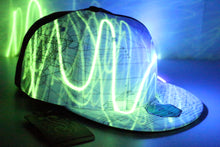 Now Available!!  Grassroots California x Hyphy Color -VERSION 2- Glow in the Dark SNAPBACK Hats!!!!  includes FREE Mini Blacklight