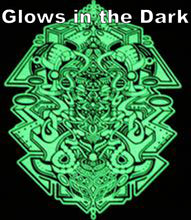 Stephen Kruse Glow in the Dark Tshirt Black includes FREE LED MINI BLACK LIGHT