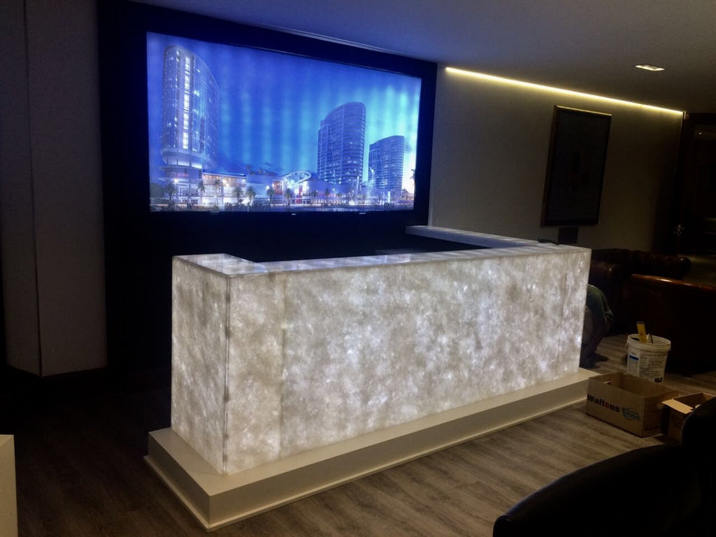 Lighting Behind Onyx Marbles : Lighting onyx marble walls and countertops using led