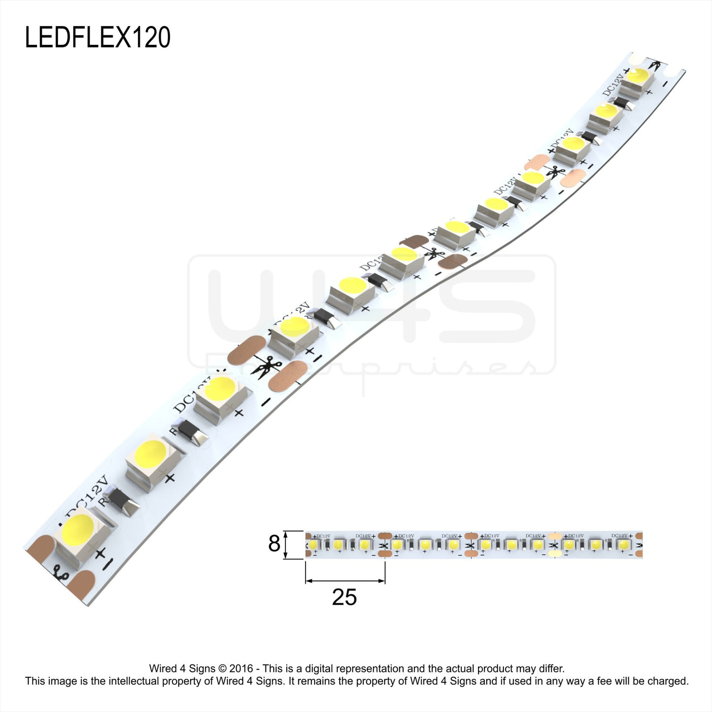 120LED Constant Voltage Strip