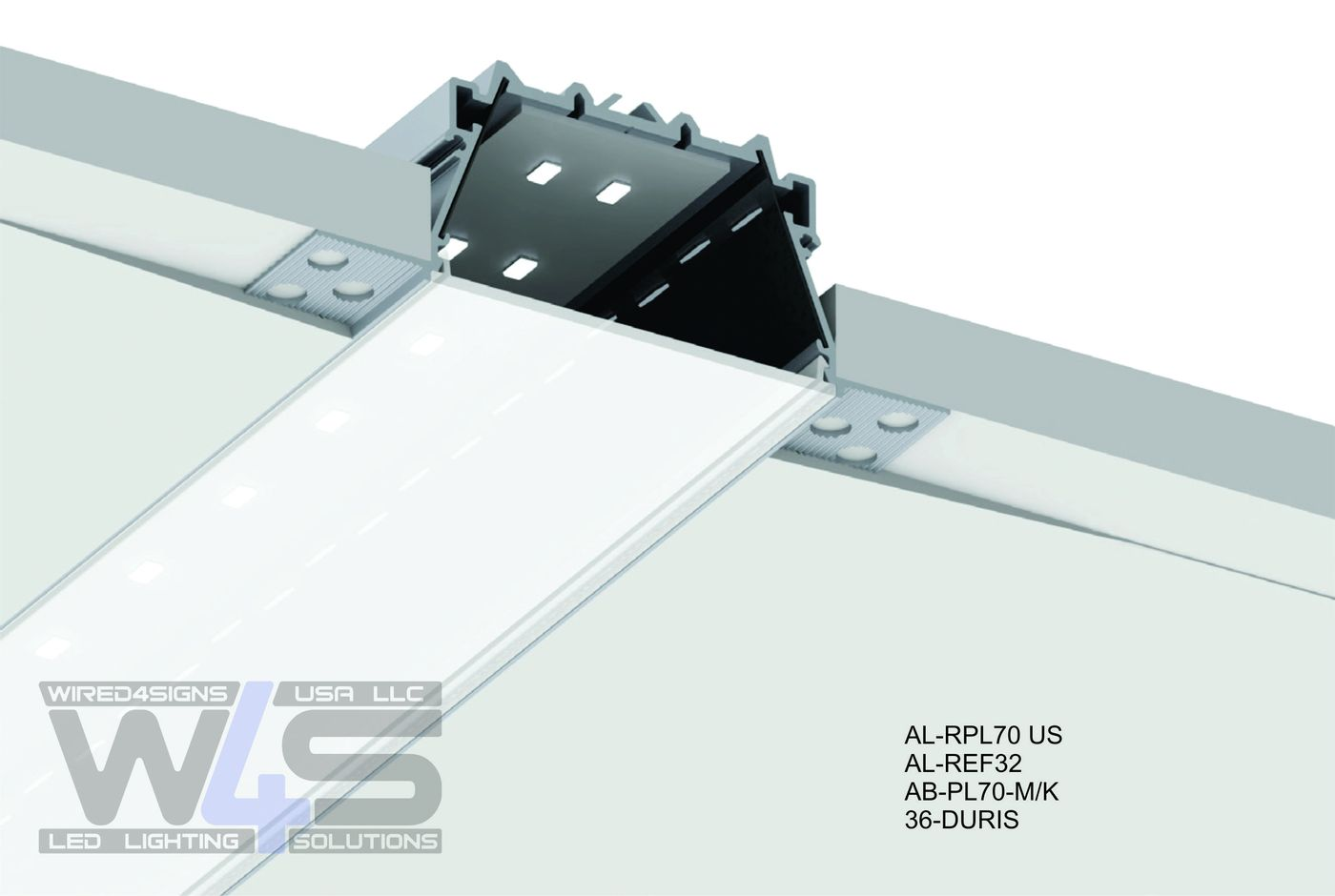 Flow Series Plaster-in Trimless Drywall LED Channel
