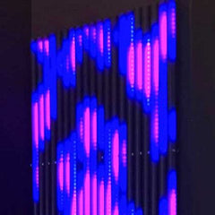 LED tube wall with RGB effects