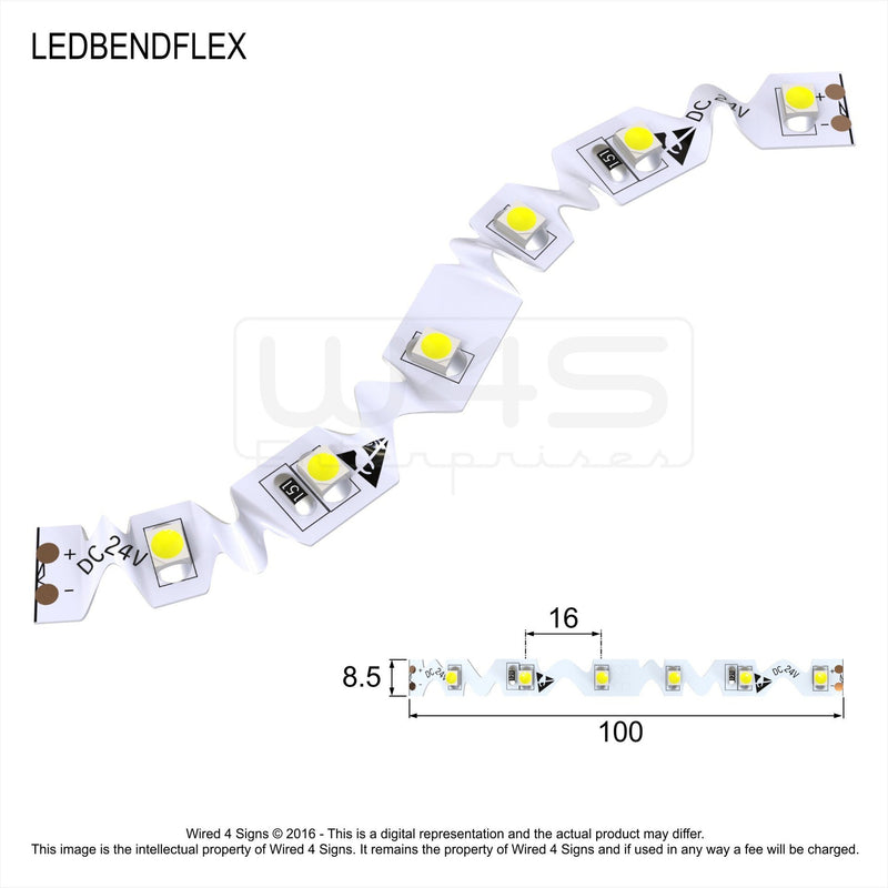 Bend Flex LED Strip 4.8w/m 24v IP20 CV - Wired4Signs USA