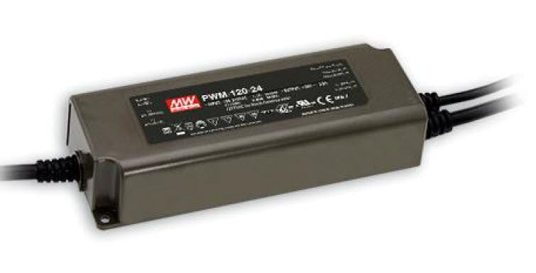 Meanwell PWM-120 120W Single Output LED constant voltage driver| Wired4Signs USA |