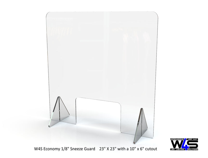 "Economy 1/8"" Sneeze Guard - Wired4Signs USA"
